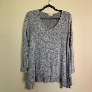 ALTAR'D STATE Marled Knit Asymmetrical Sweater M